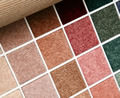 Samples of carpeting options